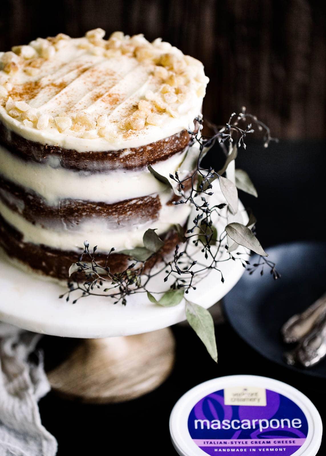 Vermont Creamery Ginger Apple Cake