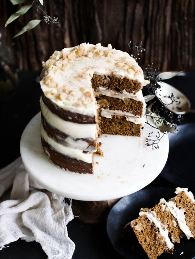 Apple Spice Cake With Marscapone