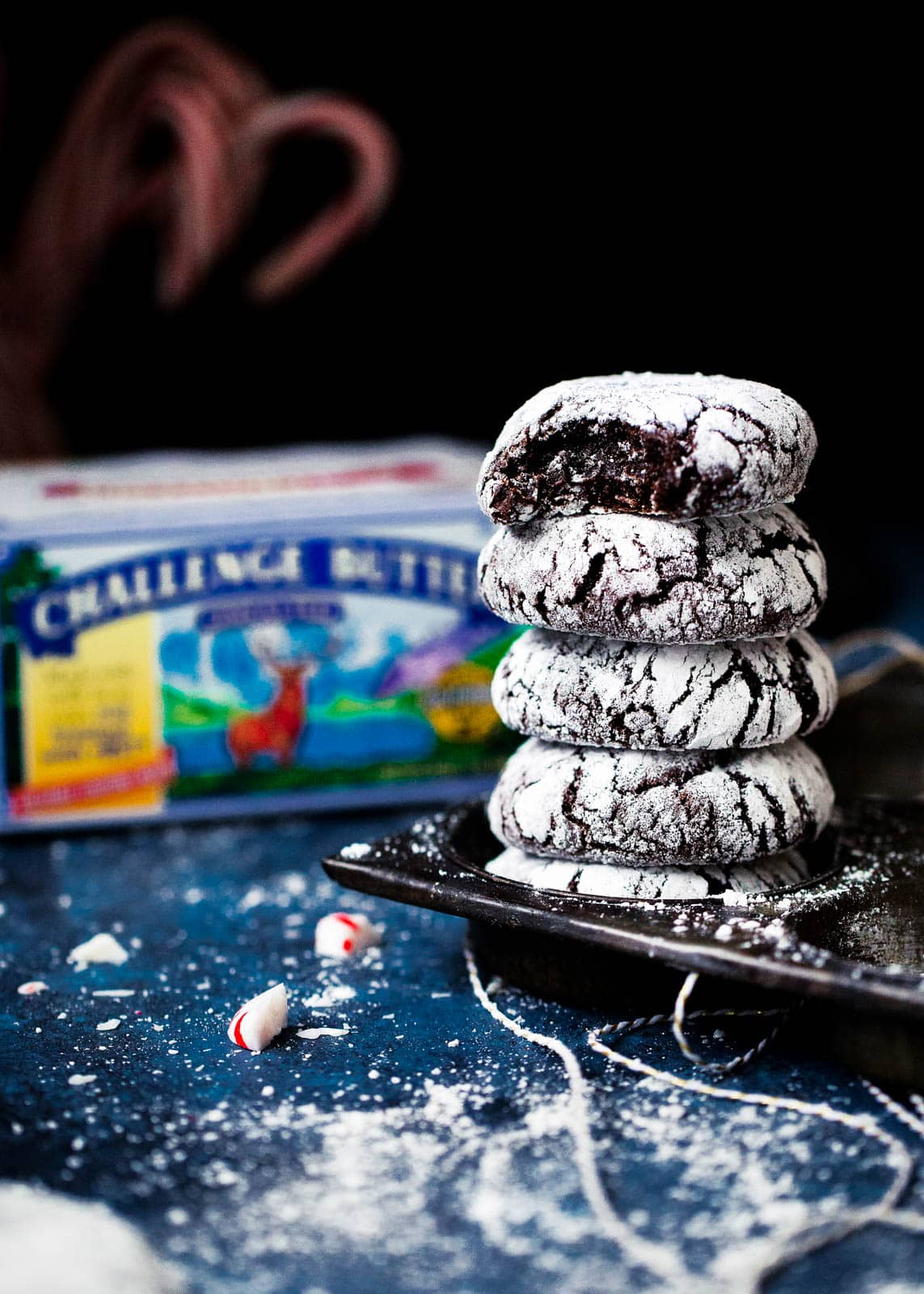 Peppermint Crinkle Cookies so fudgy and brownie-like you may end up like me and make three batches in a week.