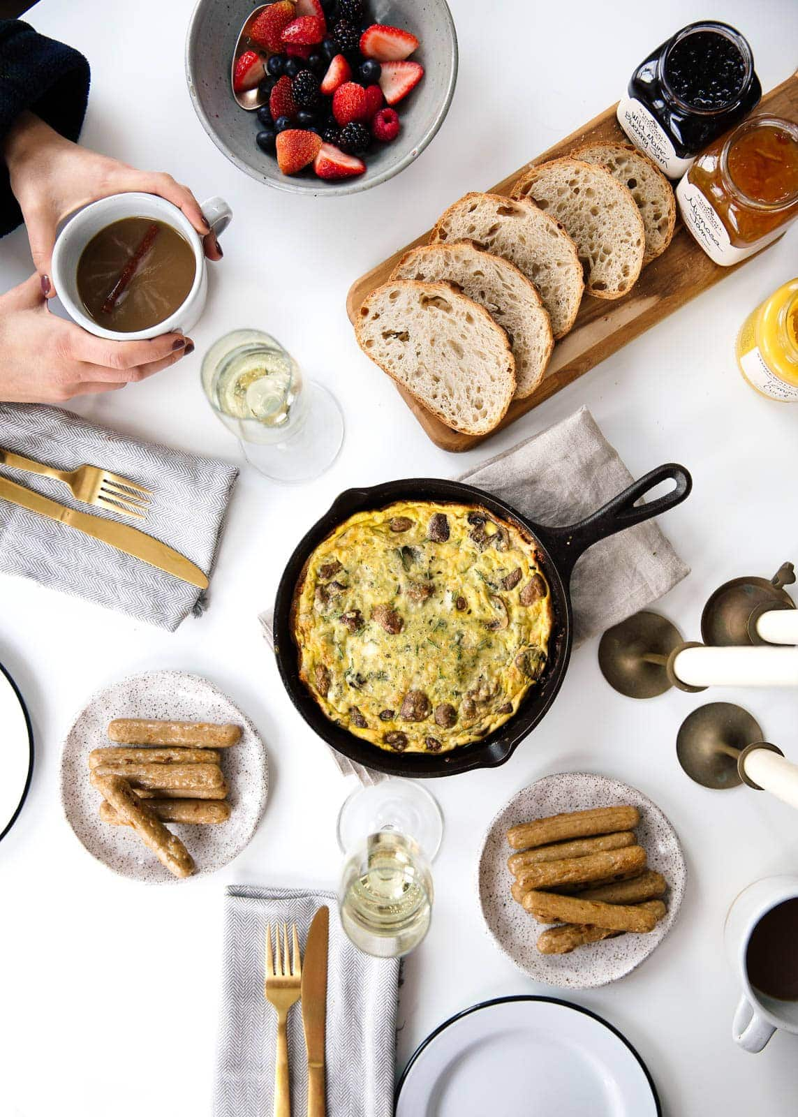 A bountiful 5-dish Christmas Brunch that takes 45 minutes from start to finish.