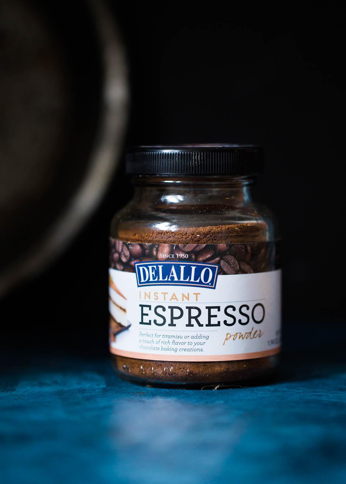 espresso powder in jar