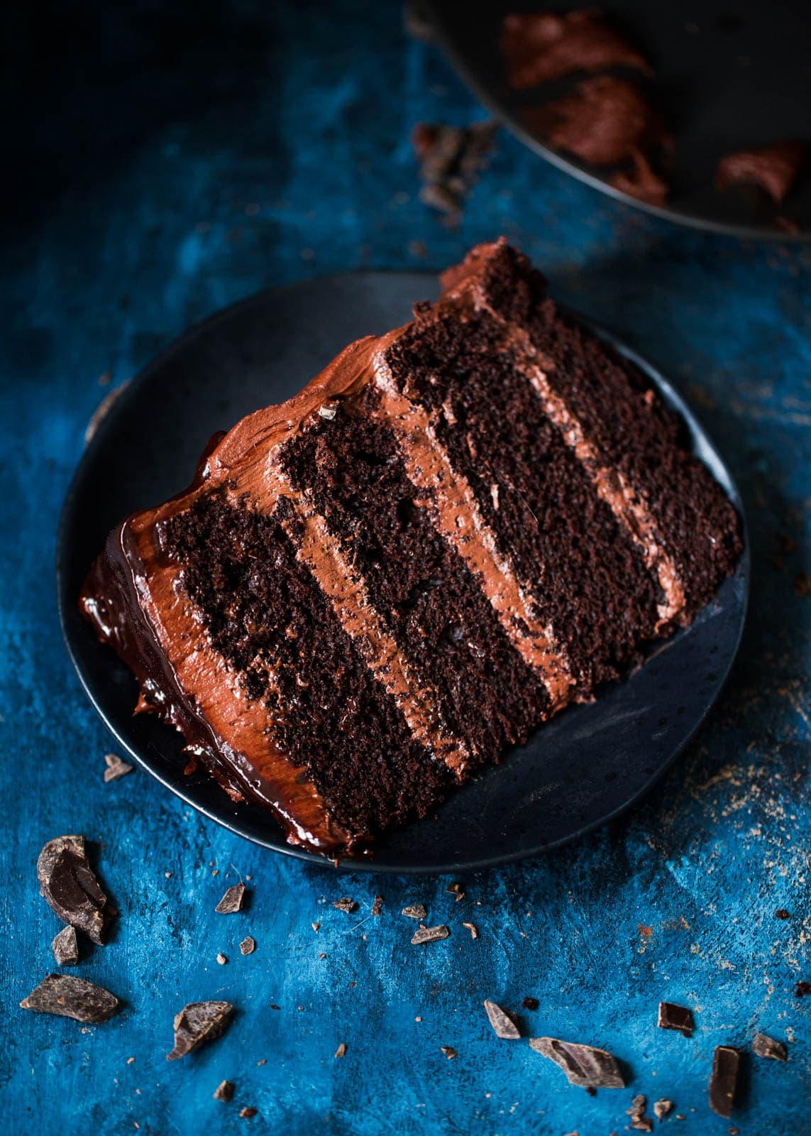 slice of Chocolate Mocha Cake