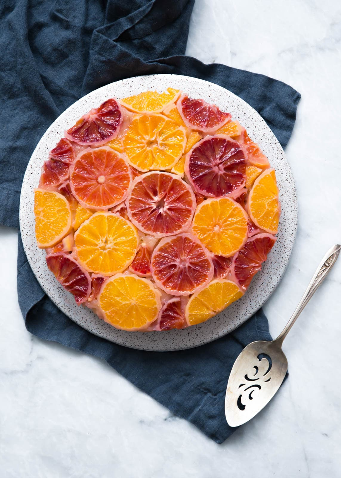 An easy upside down winter citrus cake that will brighten anyone's day.