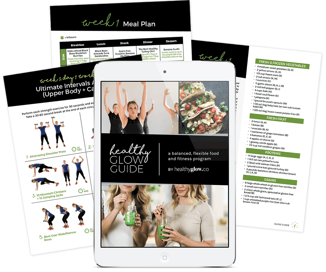 Healthy Glow Co workout guides