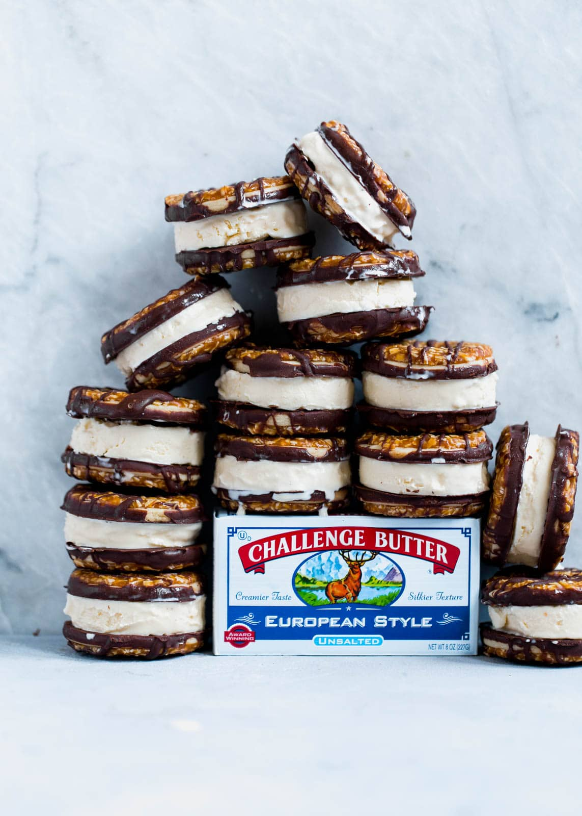 Homemade Samoas Ice Cream Sandwich Cookies. Guys this is real life and I'm so happy about it.