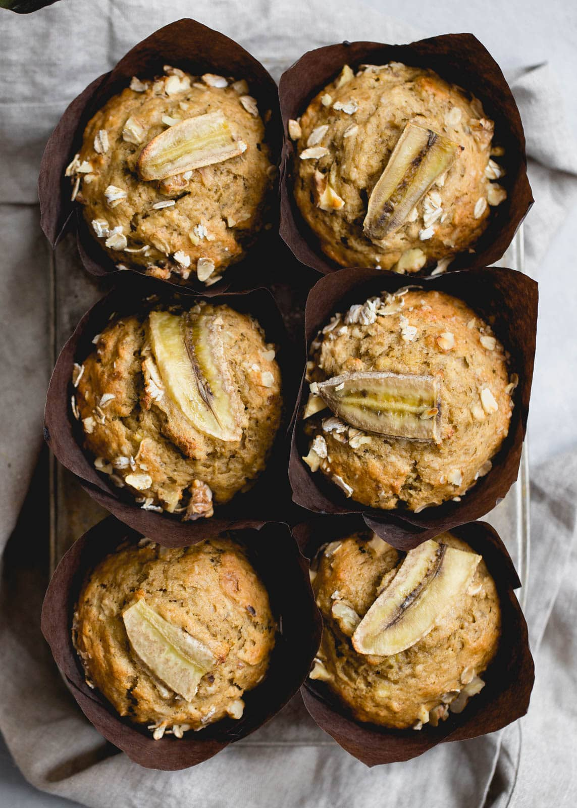 whole wheat banana muffins from above