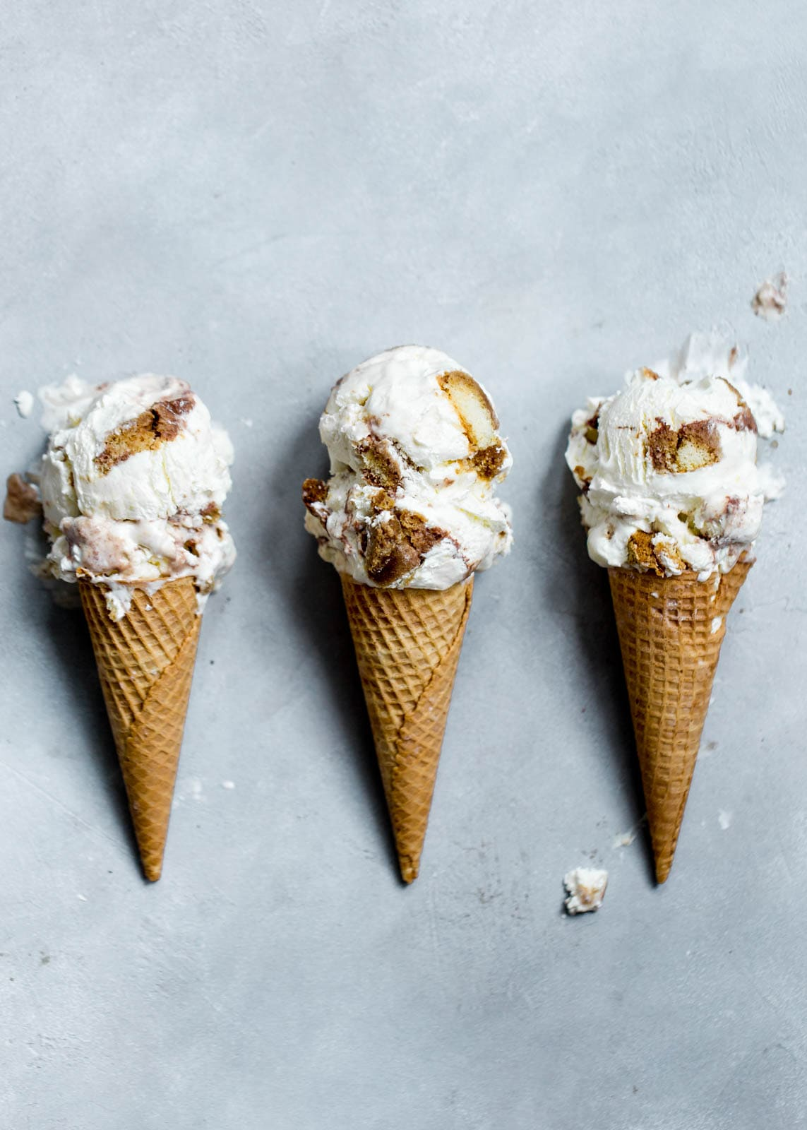 Tiramisu Ice Cream in cones