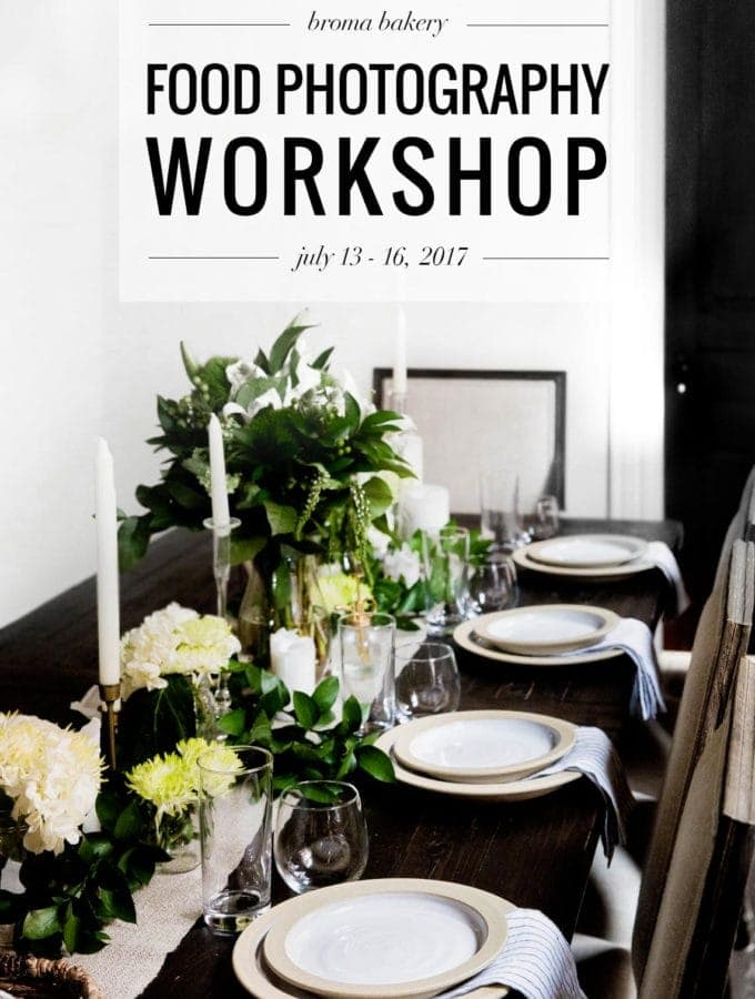 Come join us July 13-16, 2017 for a 4-day food photography workshop in Ann Arbor, MI!