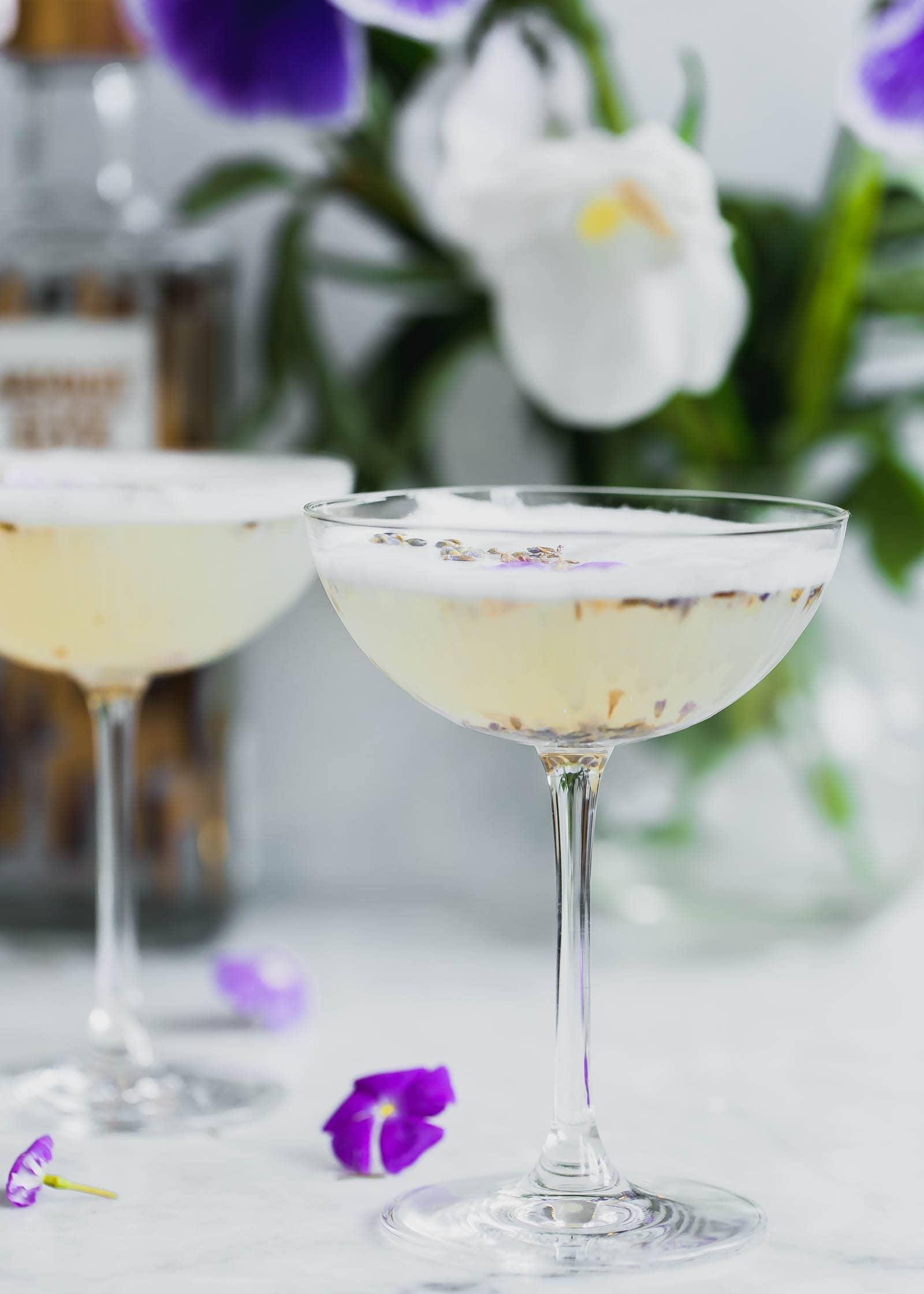 Lavender Coconut Vodka Sours