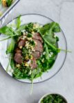 Plate of steak salad