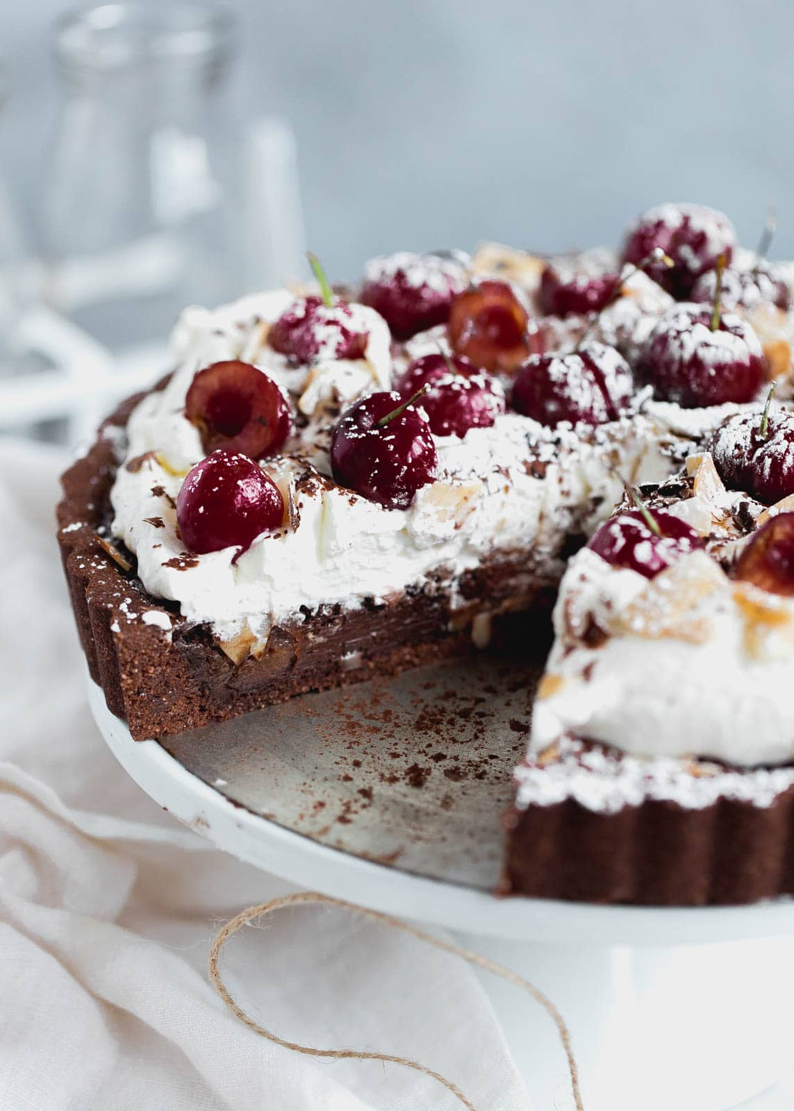 Coconut Chocolate Cherry Tart