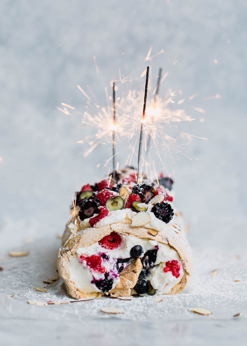 fabulous fourth of july triple berry meringue roulade
