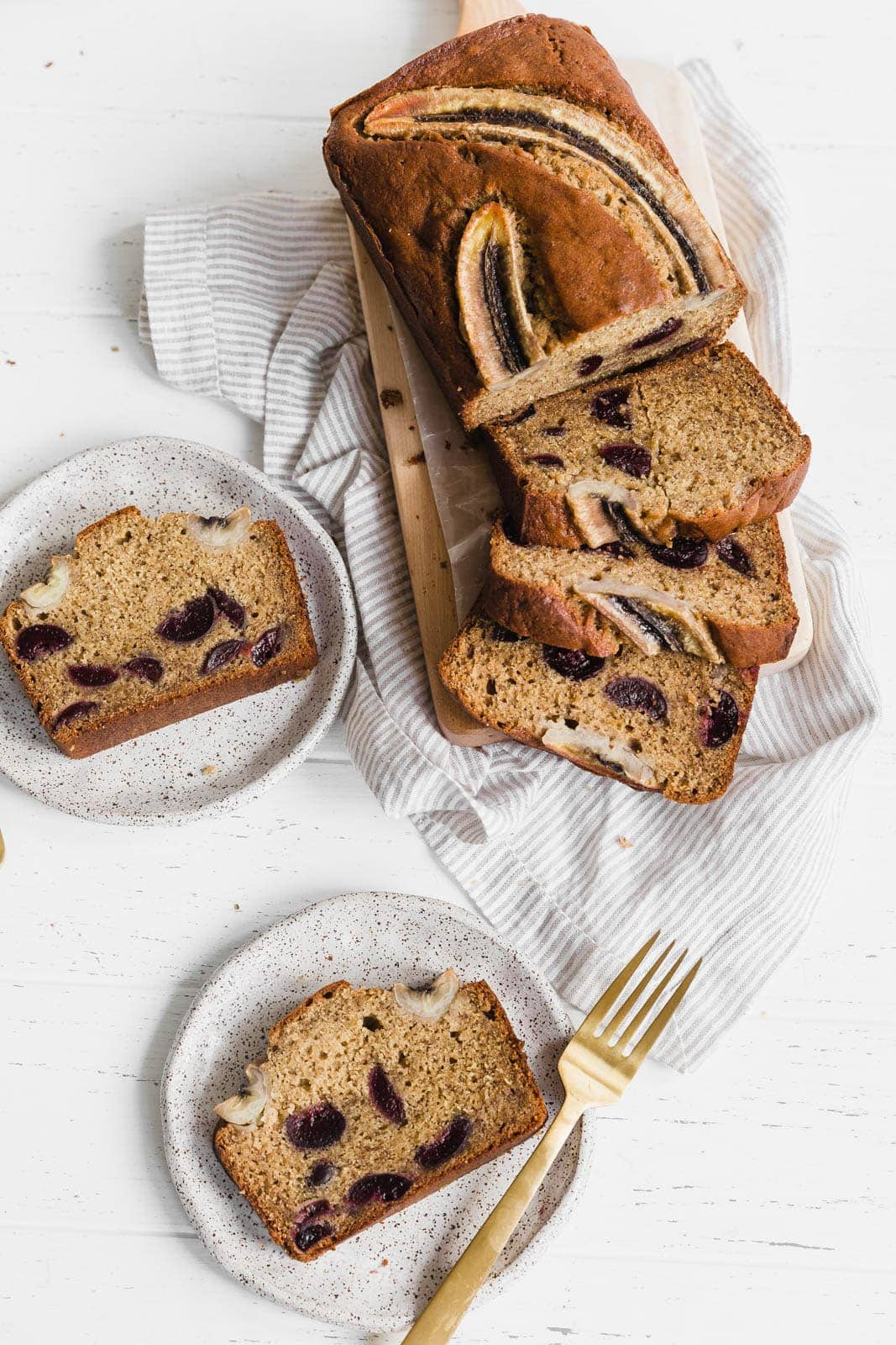Boozy bourbon soaked cherry banana bread just in time for fall shenanigans. Oh hey there, new best friend.