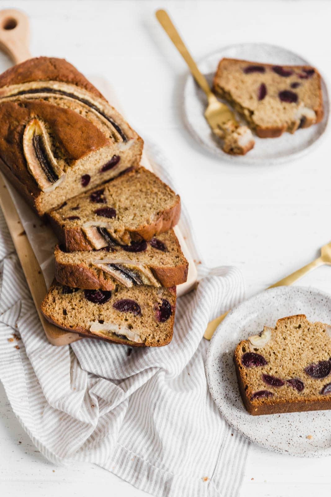 Bourbon Banana Cherry Bread