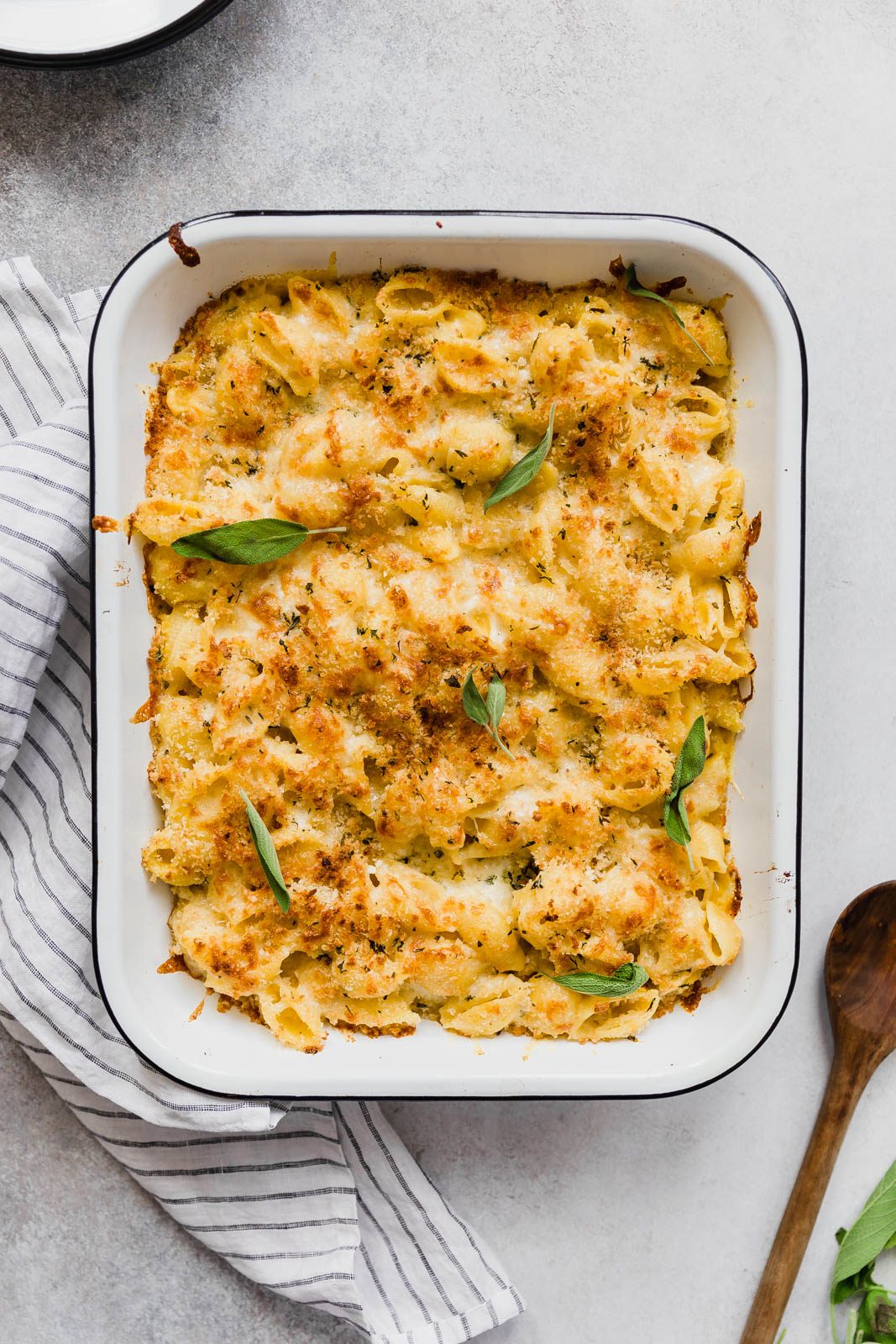 Butternut Squash Mac and Cheese in baking pan