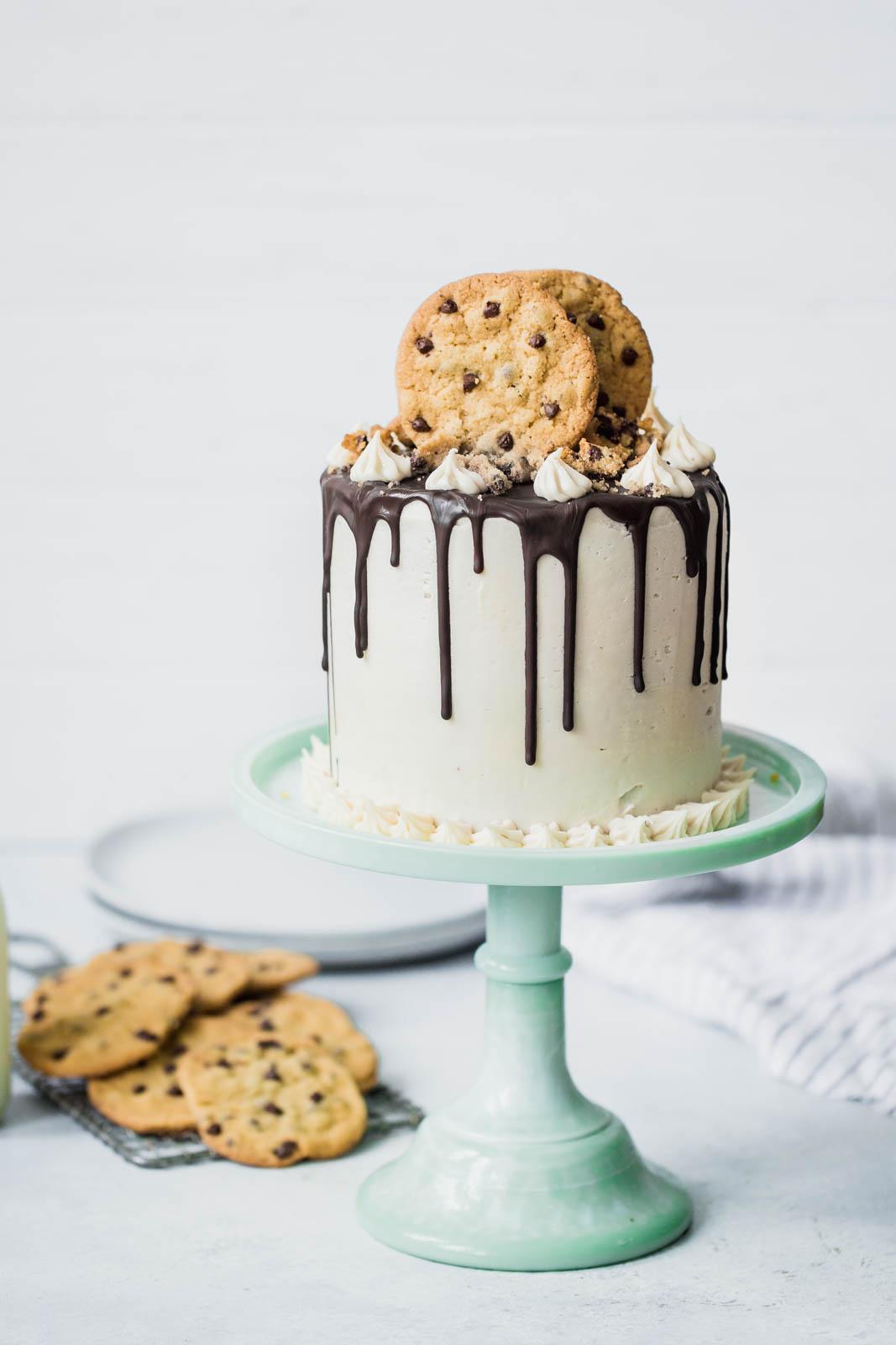 Triple Chocolate Chip Cookie Cake
