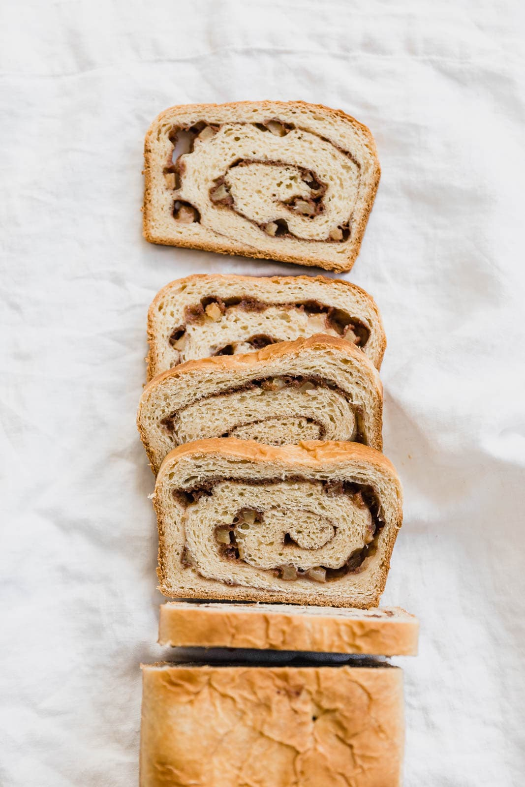 cinnamon swirl bread slices