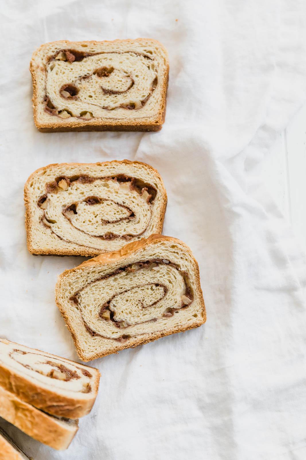 apple cinnamon bread slices