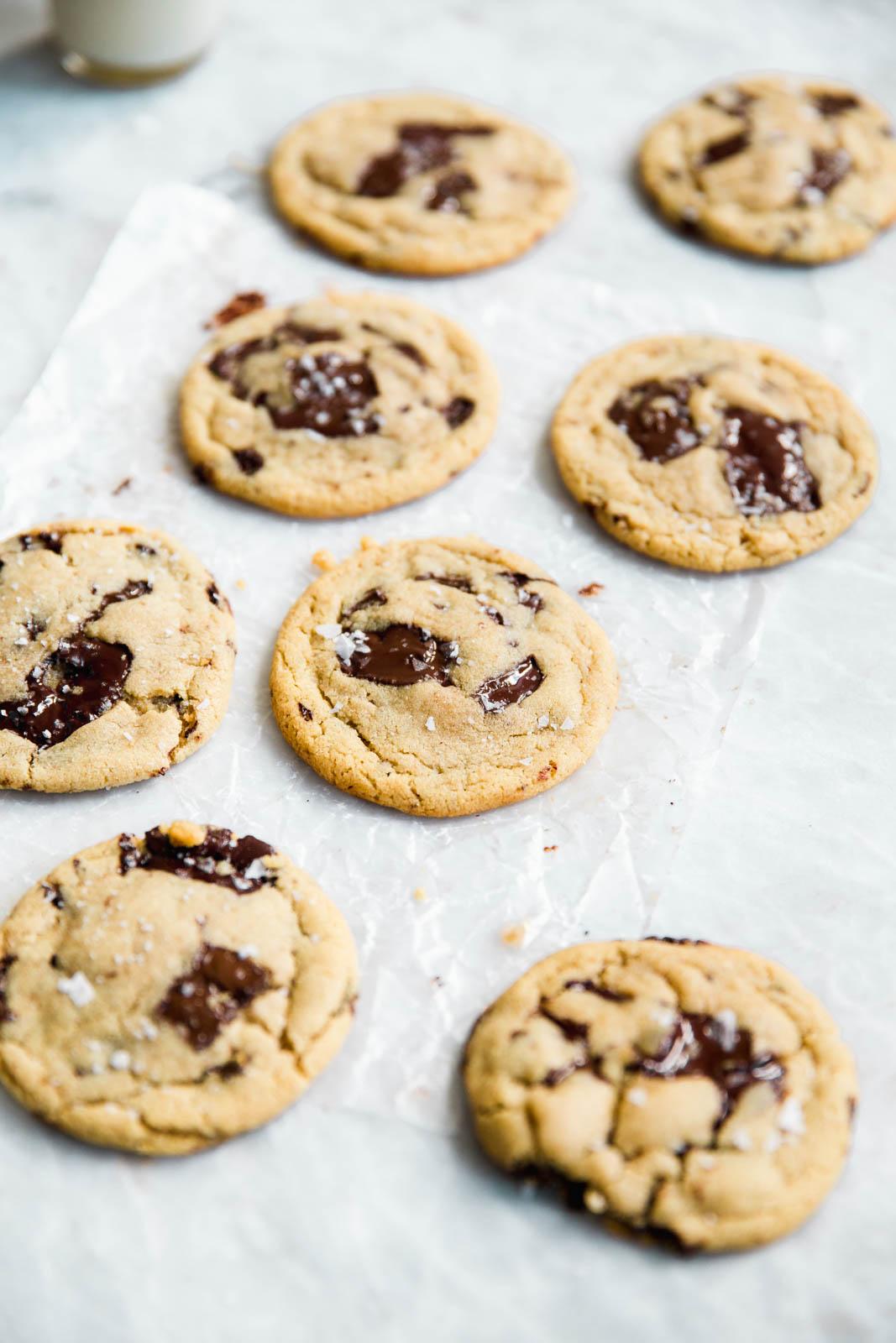 Easy Chocolate Chip Tahini Cookies