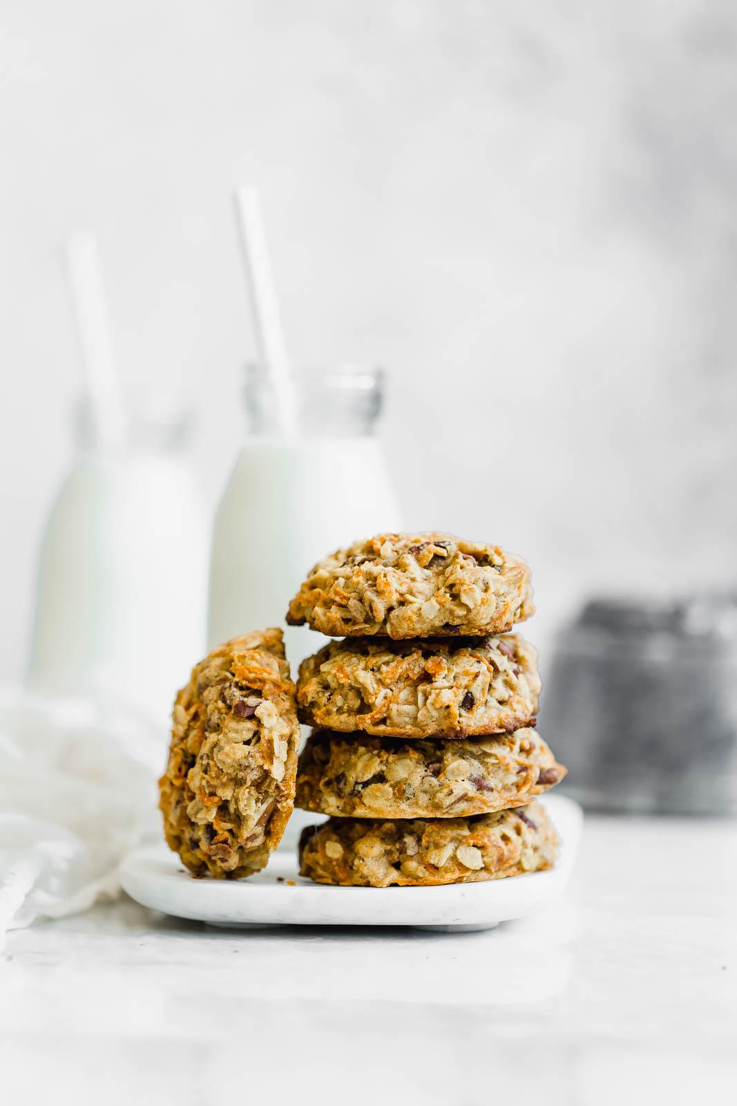 breakfast cookies in a stack