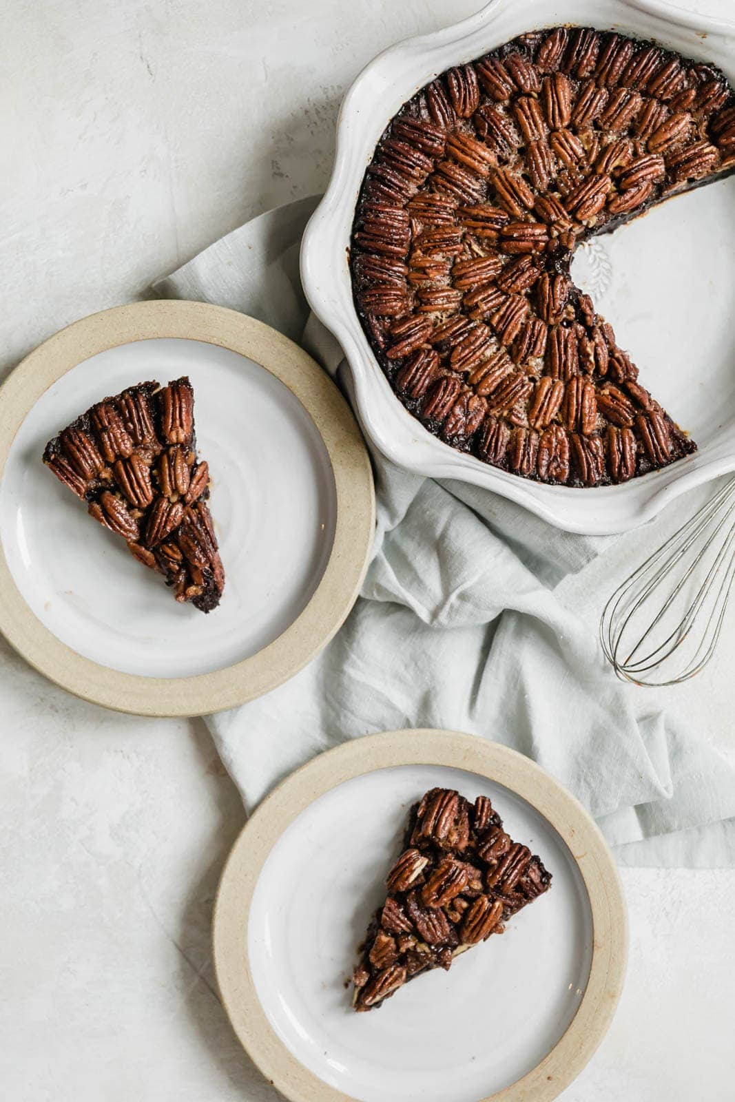 Brownie Pecan Pie slices
