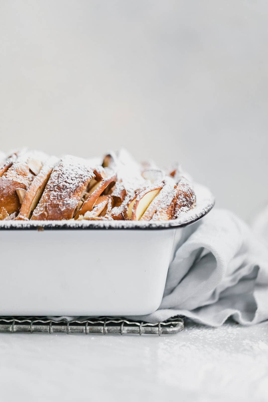 baked french toast in a loaf pan