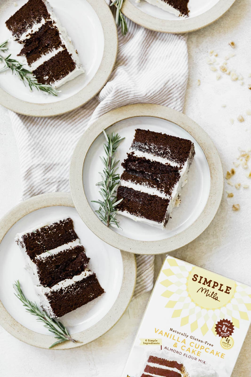 slices of molasses ginger cake on plates