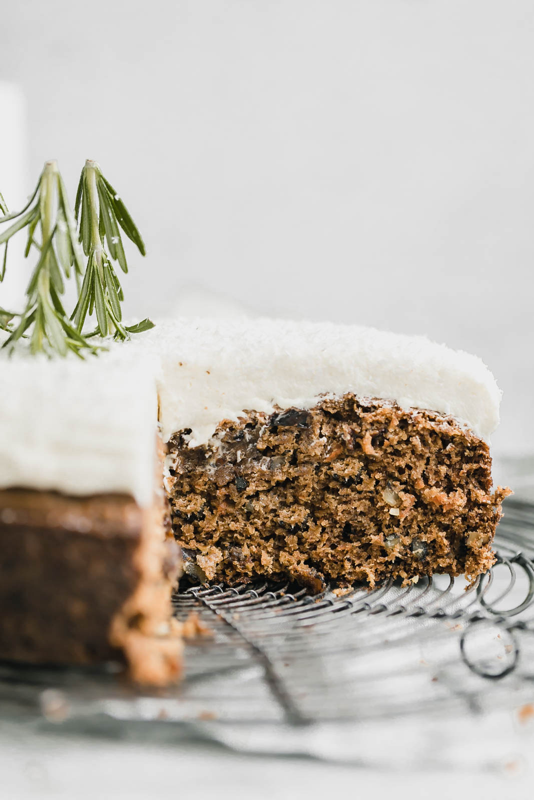 sliced coconut carrot cake