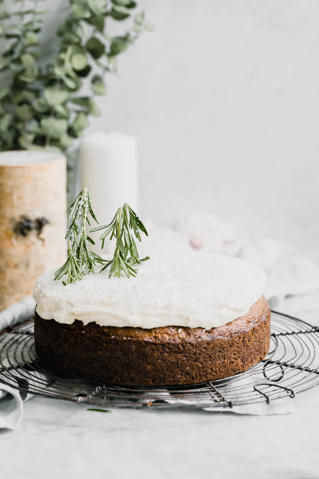 coconut carrot cake on wire rack