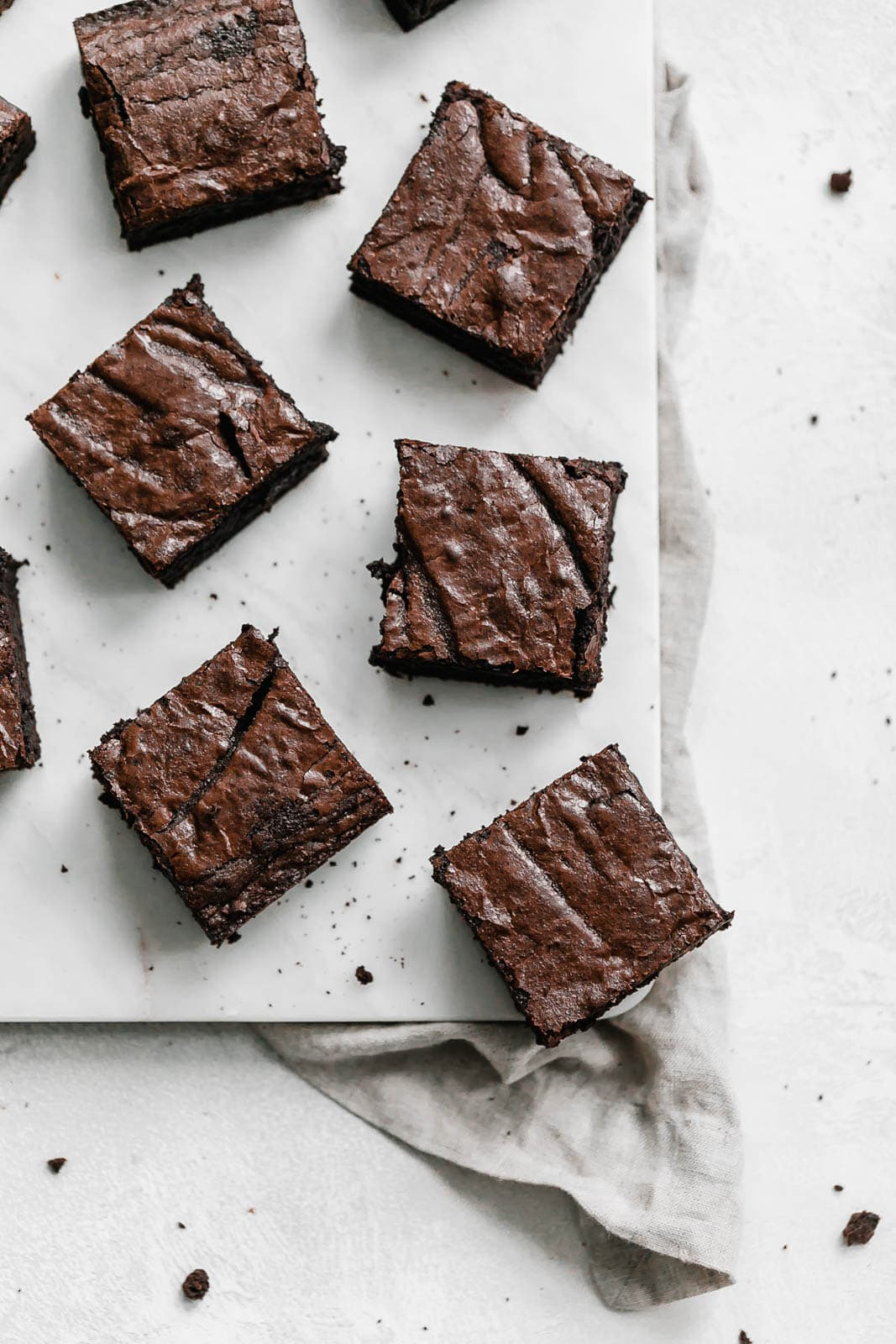 whole wheat brownies sliced on a counter