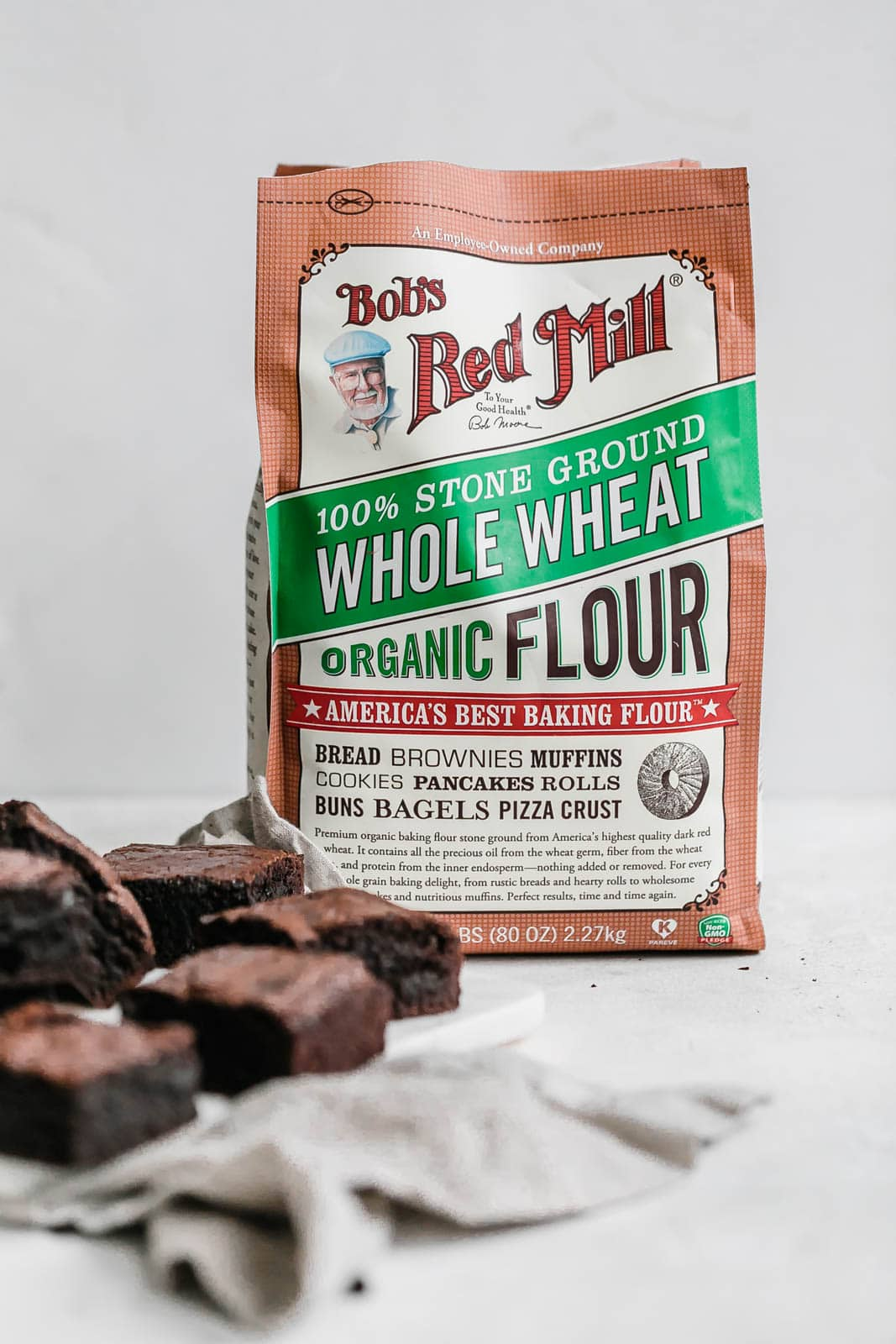 brownies with bag of whole wheat flour