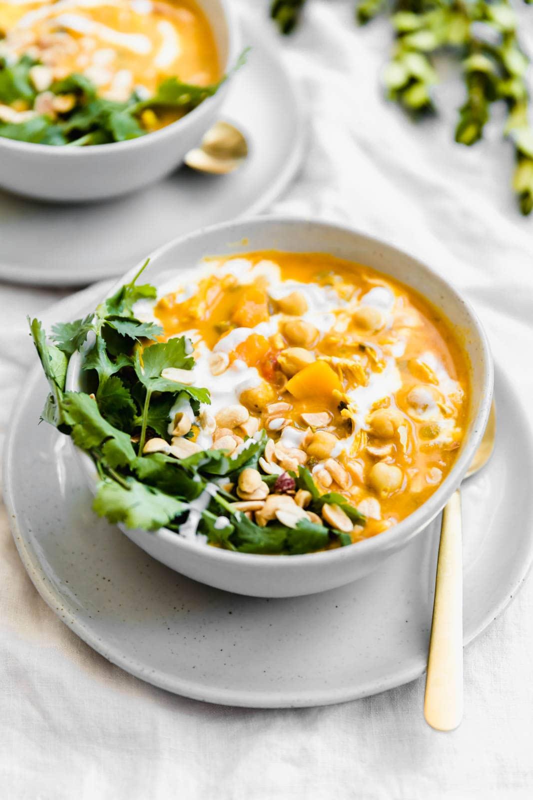 Turmeric Chicken Soup bowls