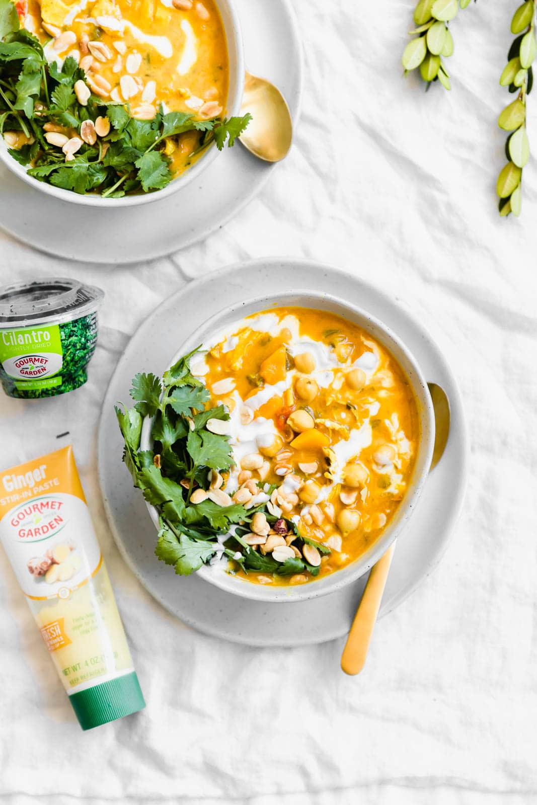 bowls of Turmeric Chicken Soup