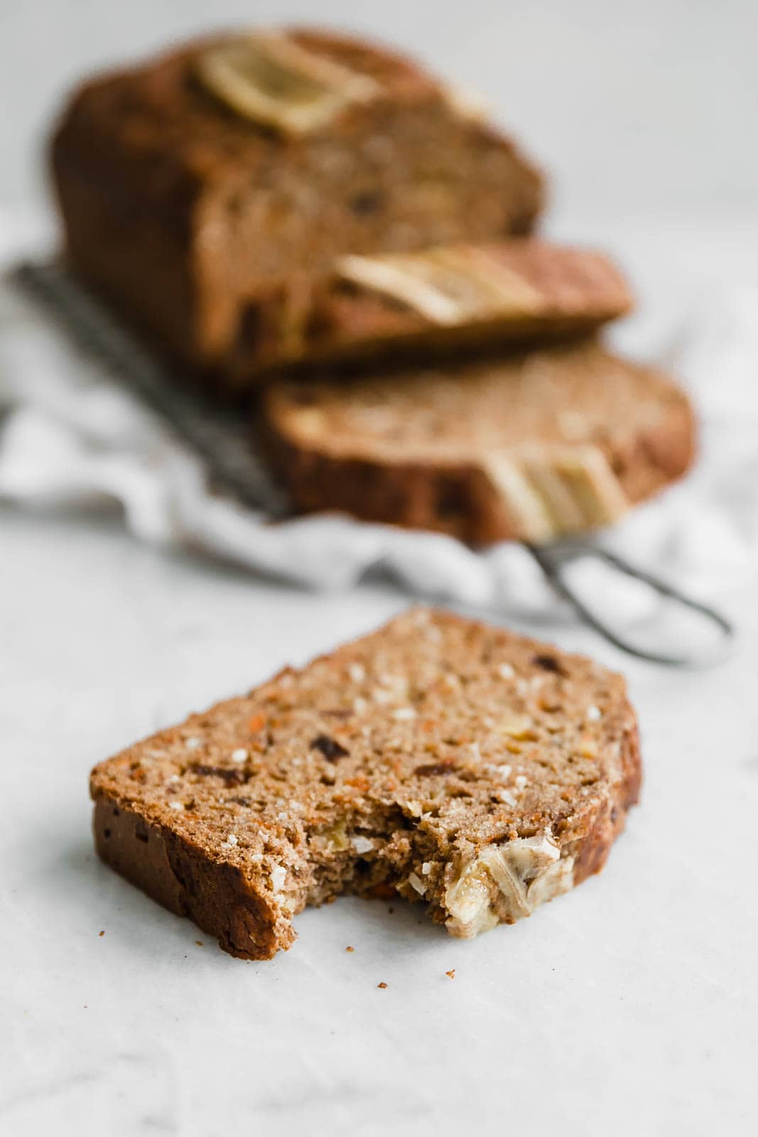 slice of carrot cake banana bread