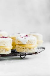 Coconut Lemon Curd Petit Fours: homemade lemon curd sandwiched between two coconut flour cakes and topped with lemon icing. HELLO, SPRING!