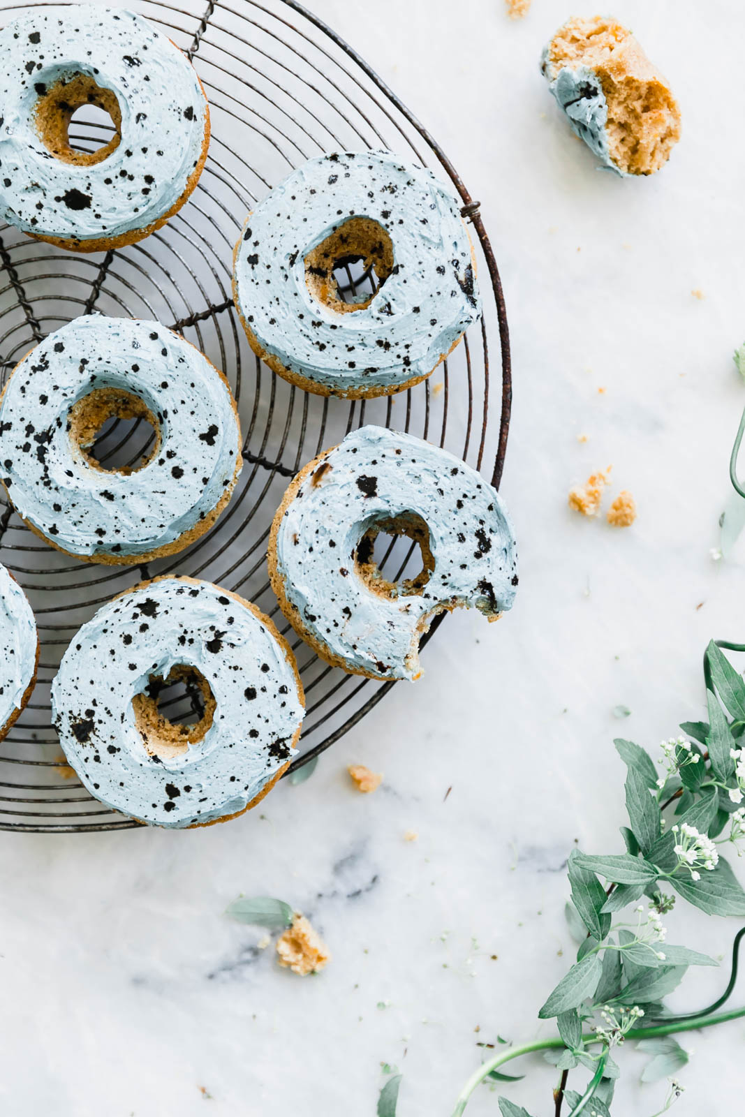 carrot cake donuts on wire rack
