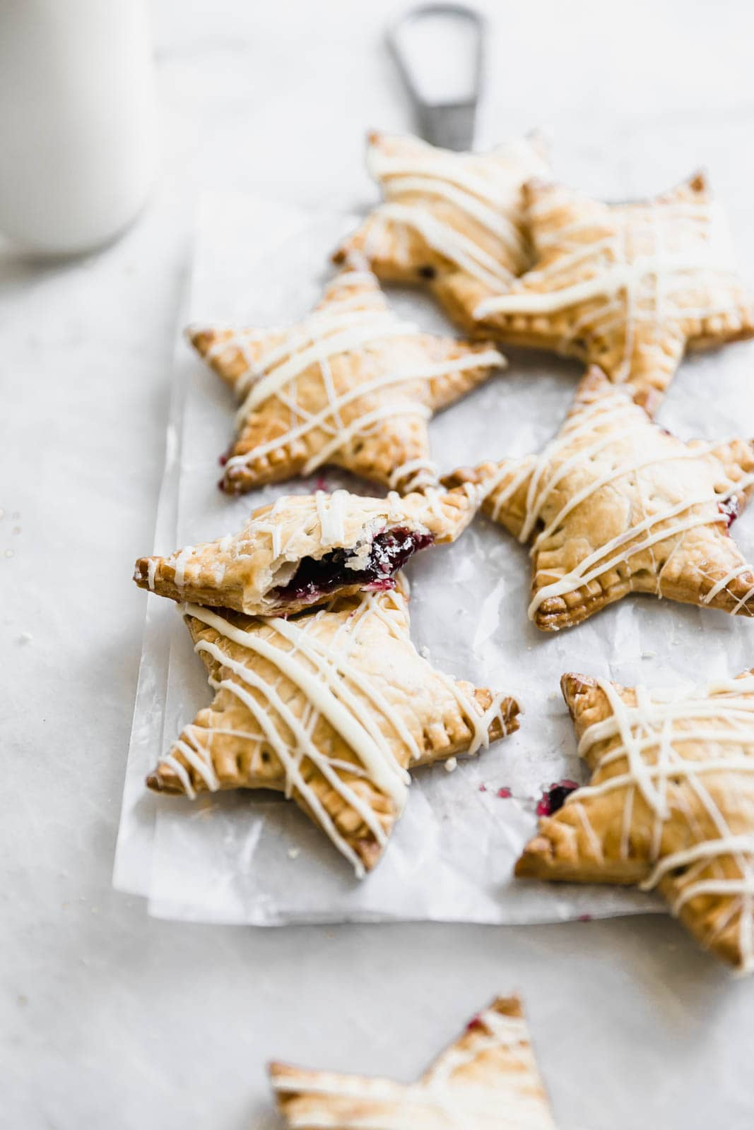 Sometimes, you just want pie. And some of those sometimes, you want pie that fits in your hand. Enter: these White Chocolate Blueberry Star Shaped Hand Pies