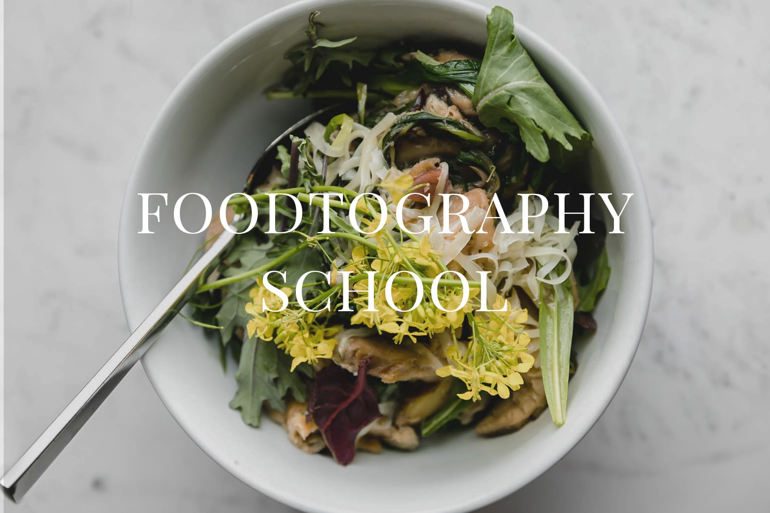 Foodtography School: a virtual food photography school designed to improve your food photography as both a skill and business in four weeks.