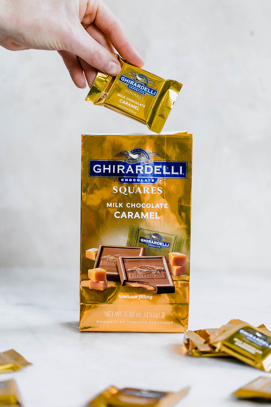 bag of ghirardelli chocolate