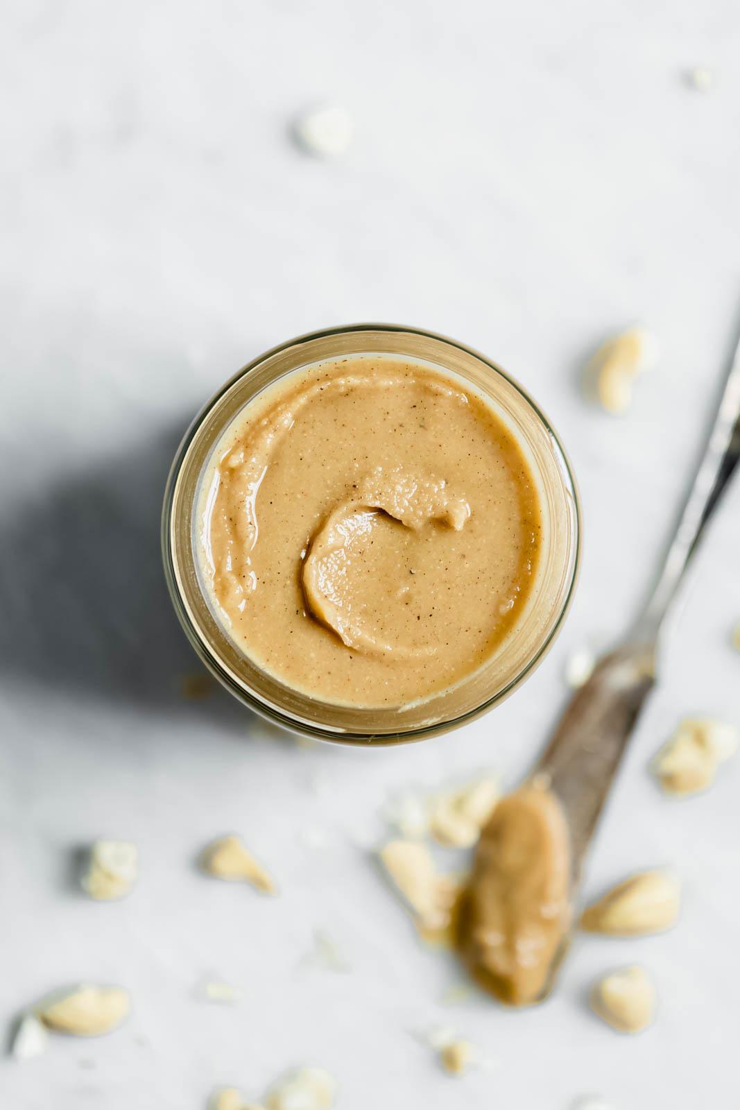 Vanilla Cardamom Cashew Butter in jar