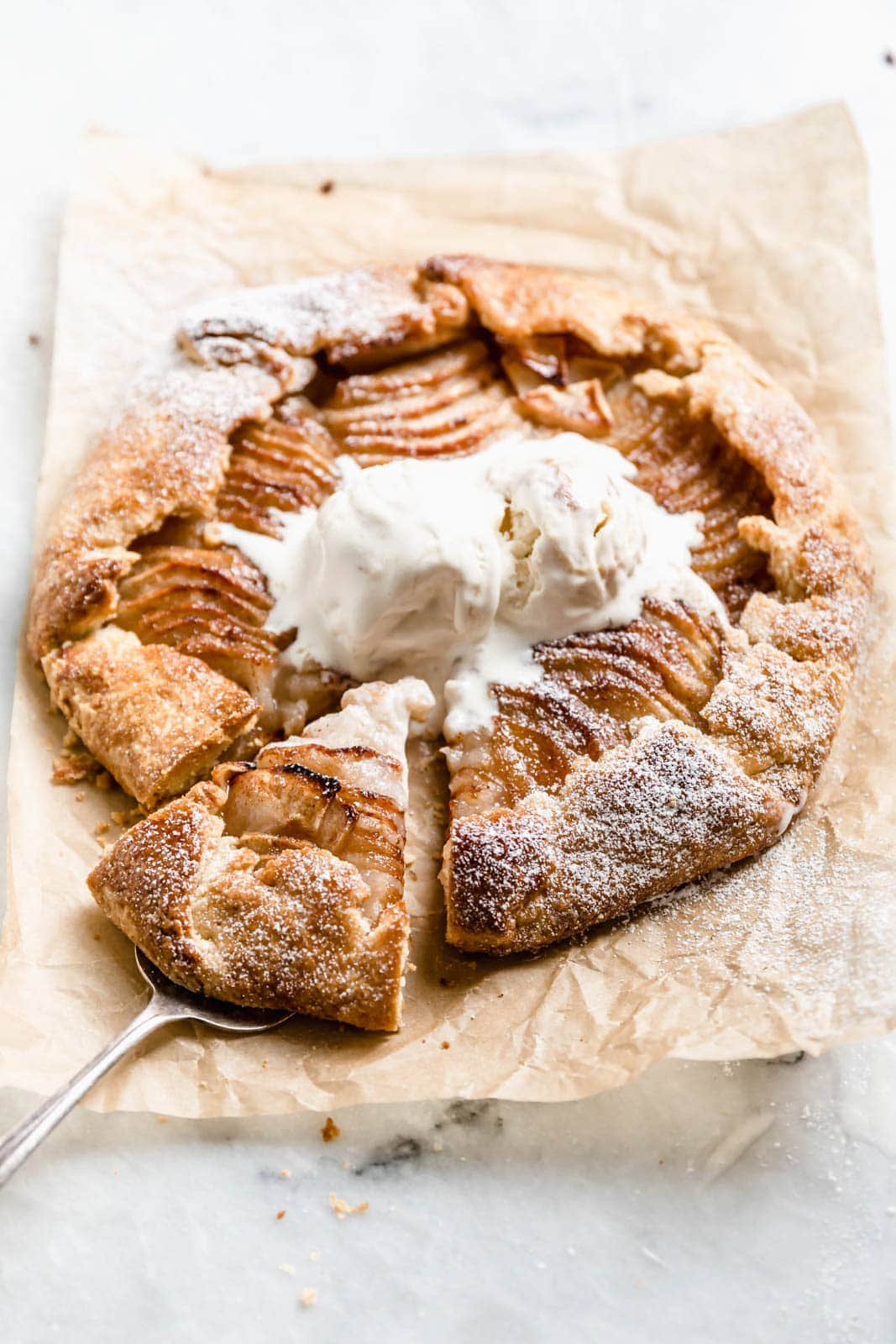 Cinnamon Apple Galette with Vanilla Ice Cream