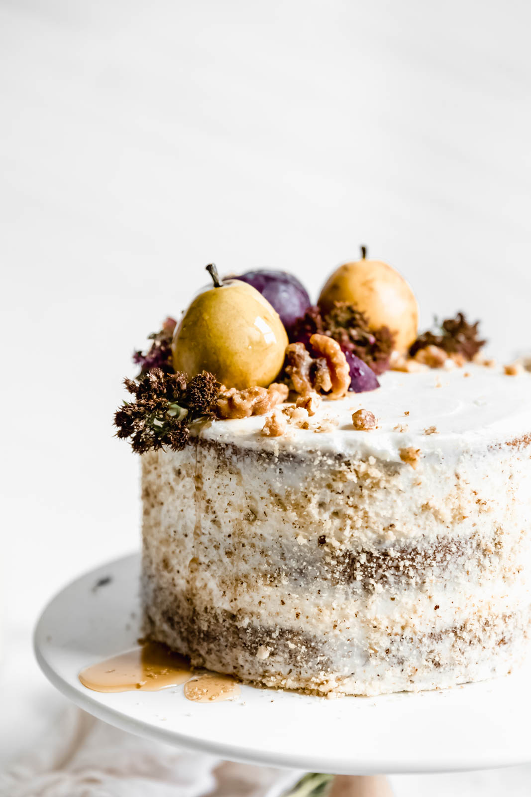 Maple Walnut Cake with Maple Frosting