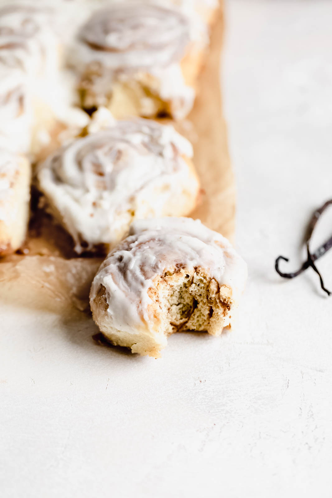 The softest, most perfect Cinnamon Buns I've ever had, made with vanilla beans and a cream cheese frosting. Well worth the effort!!!