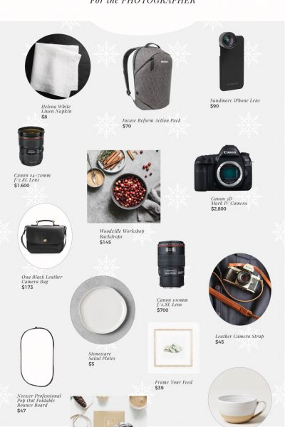 The 2018 Holiday Gift Guide: For the Photographer is perfect for the photo lover in your life, filled with cameras, lenses, props, and accessories!
