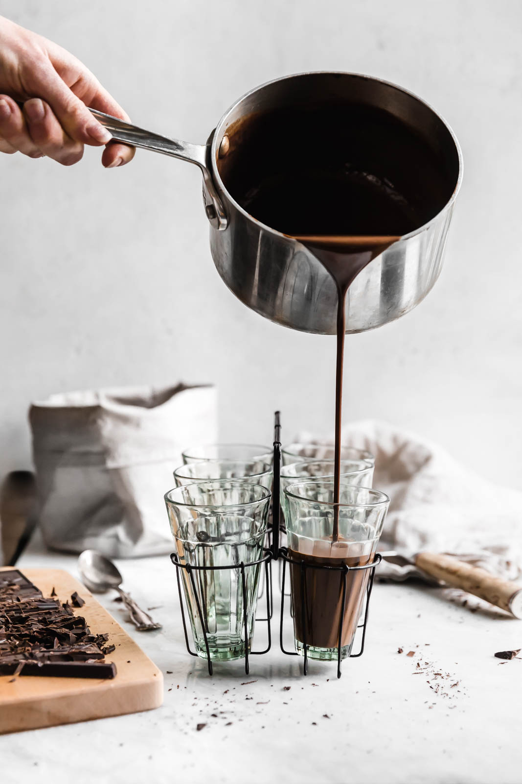 Thick AF Tahini Hot Chocolate made with hunks of bittersweet chocolate and spoonfuls of tahini. Guys, this stuff is pure liquid gold.