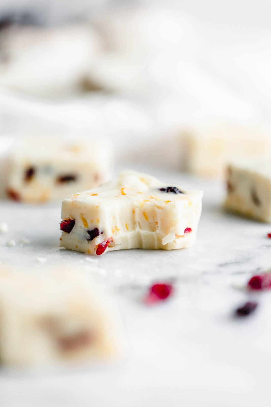 This 4-ingredient Cranberry Orange White Chocolate Fudge is a quick and delicious holiday treat the whole family will love!