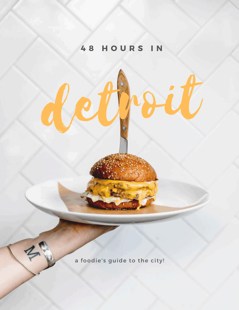 The ultimate 48 hour guide on where to eat, drink, and play in Detroit, MI! Because eating your way across a city is the best way to experience it :)
