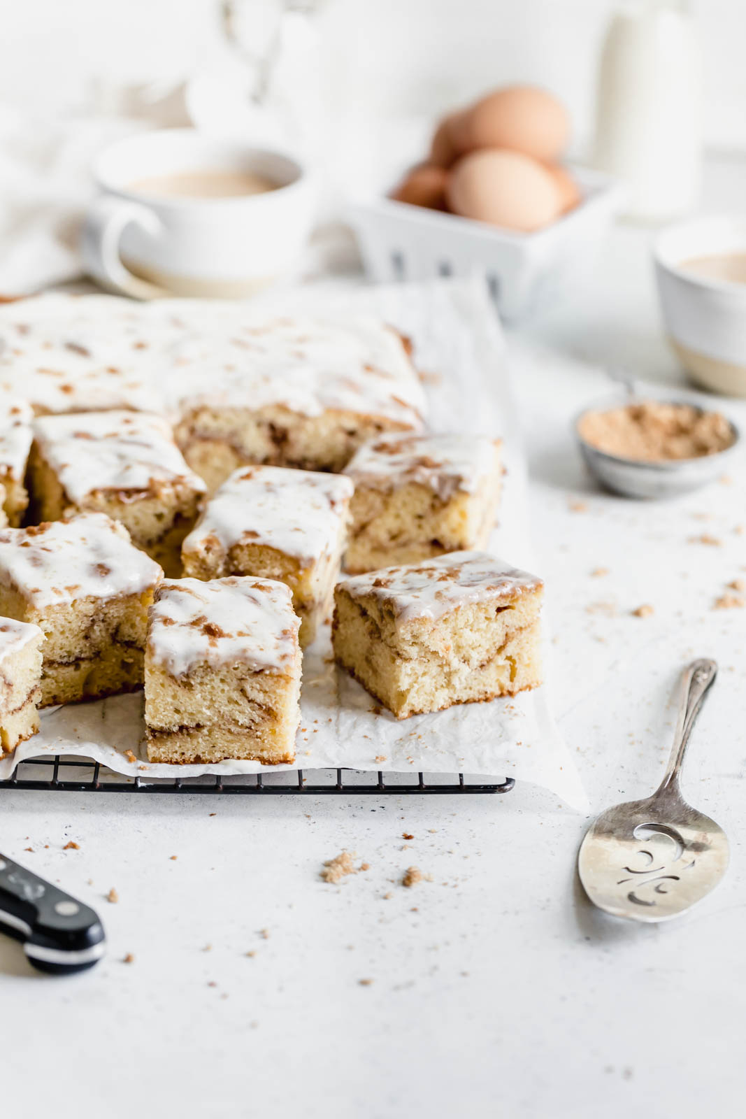 cinnamon roll cake broma bakery
