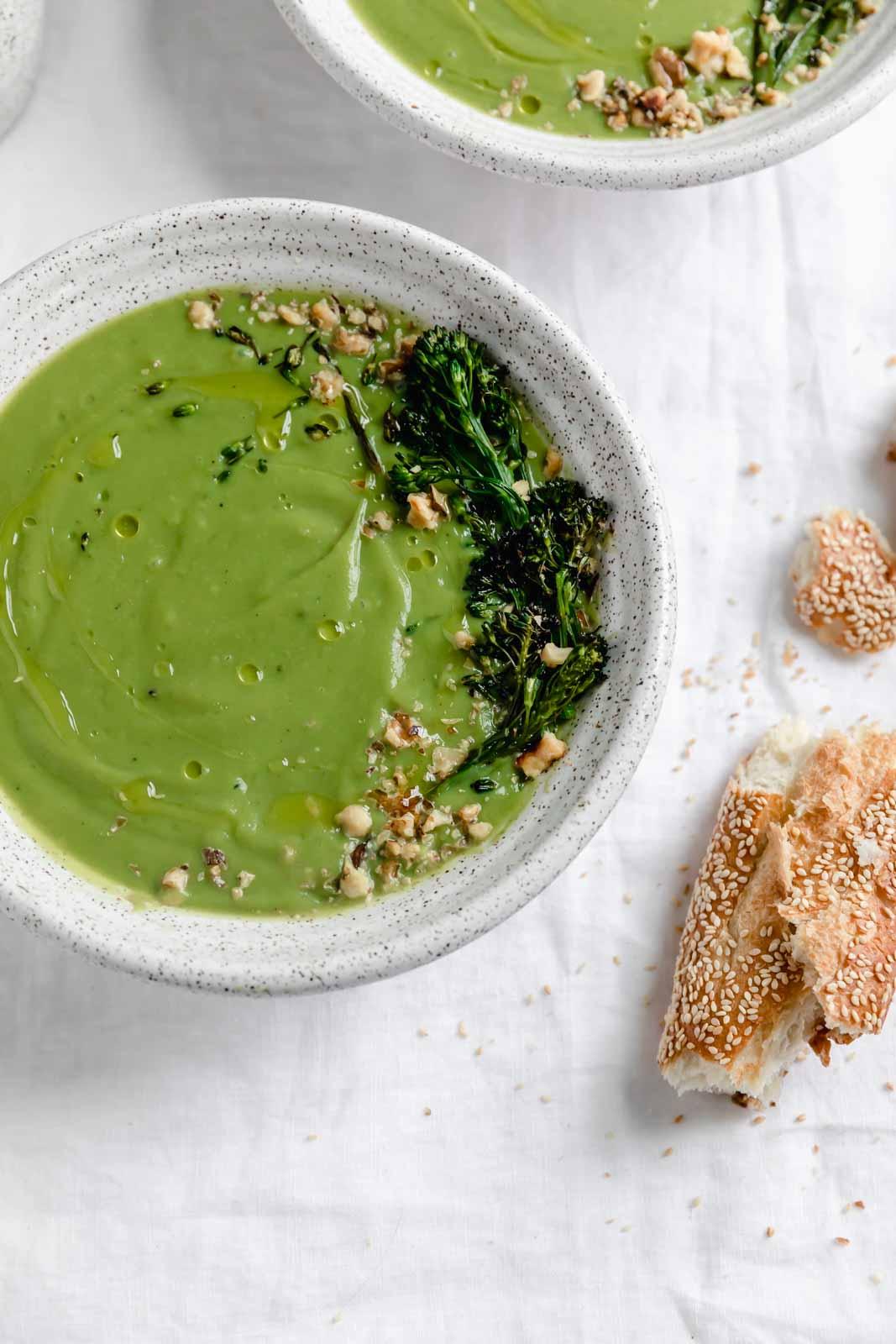 super creamy healthy broccoli soup