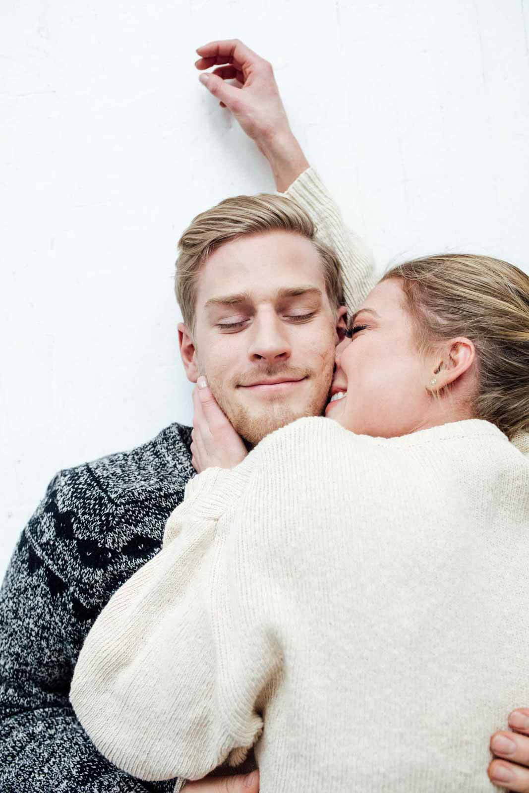 A bright and airy Intimate At Home Engagement Shoot